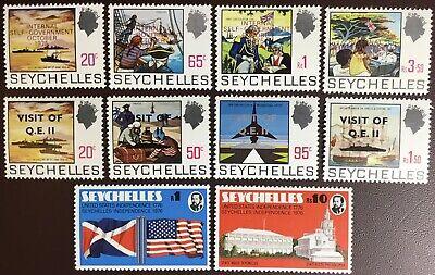 Seychelles 1975-76 3 Commemorative Sets MH/MNH