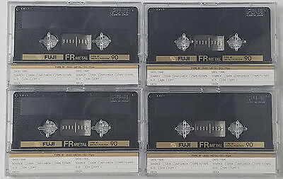 Fuji FR Metal 90 Lot of 4 Blank Cassette Tapes New Never Used Type IV