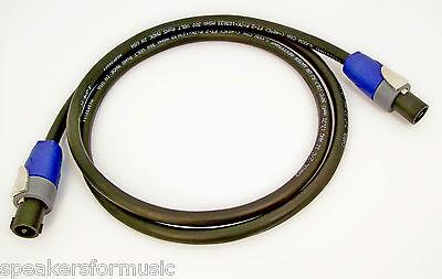 Grade Speaker Cable - Premium Neutrik Speakon Speaker Cable 12/2 Gauge 3' foot NL2FX Tour Grade