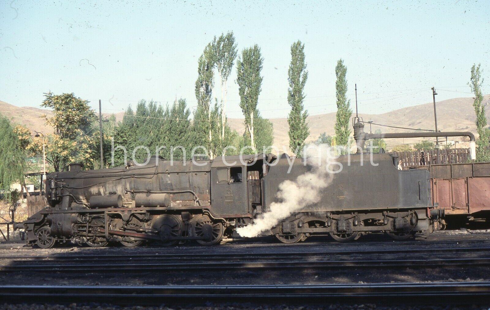 ORIGINAL RAILWAY SLIDE : TURKEY Stanier 8F - 45161 at Irmak