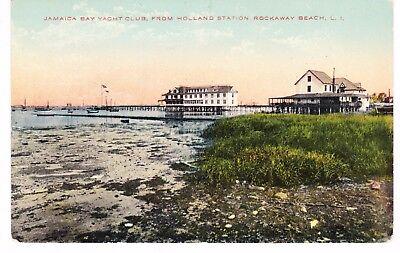 ROCKAWAY BEACH QUEENS, JAMAICA BAY YACHT CLUB FROM HOLLAND STATION LONG ISL, NYC