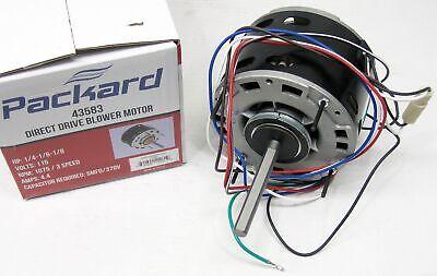 43583 14 Hp 1075 115 V 3 Speed Furnace Blower Fan Motor