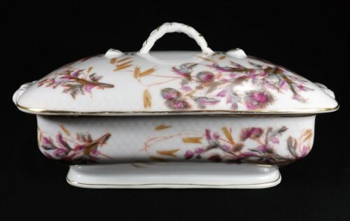 Antique Marx & Gutherz Carlsbad Soup Tureen w/ Lid Pattern 1536 Floral Marked