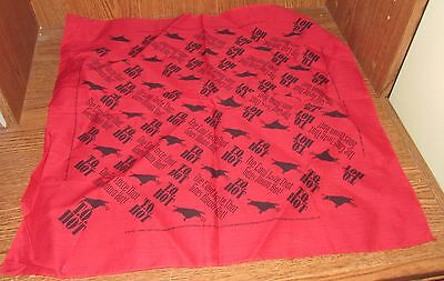 T.Q. HOT Tequila Gold Mexican Red Cowboy Western Bandana Promotional 21