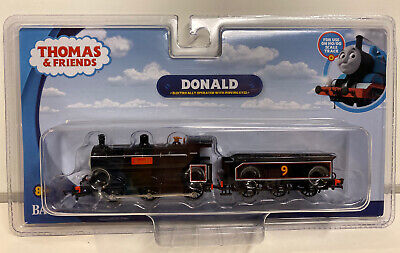 Bachmann HO Scale Thomas & Friends Donald Engine W/ Moving Eyes & Tender #58807 Engine Moving Eyes