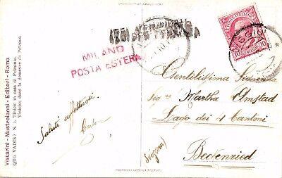 Italien, Ansichtskarte aus Viggiu nach Beckenried / Schweiz, Milano Posta Estera