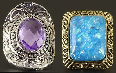 2 big & bold costume jewellery rings, cheap, cheerful & slightly eccentric!