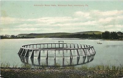 Harrisburg Pennsylvania~Wildwood Park~Automatic Water Gate~1910 Postcard ()