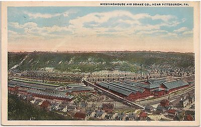 Westinghouse Air Brake Co  Near Pittsburgh Pa Postcard 1919