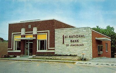 Postcard The First National Bank Of Jonesboro  Illinois 109711