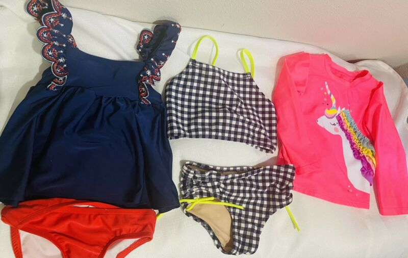 Lot Toddler Girl Swim Suits size 2T