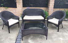 Quality 4 piece outdoor wicker setting Beerwah Caloundra Area Preview