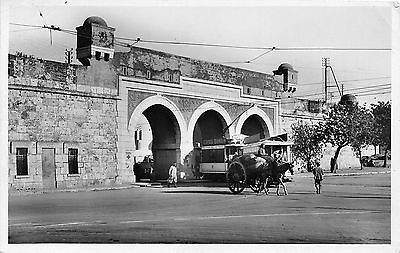 Africa real photo postcard Tunisia Tunis Bab-Saadoum