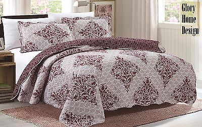 3 Piece Quilt Set (Emma/Reversible) - Glory Home Designs