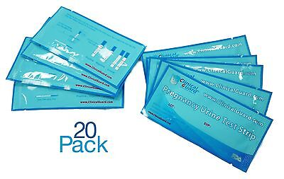 Pack of 20 HCG Early Pregnancy Test Strips From US