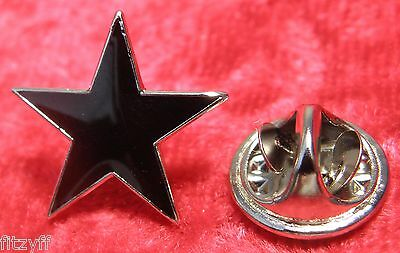 Black Star Lapel Pin Badge Five-pointed Pentagram Anarchy Anarchism Symbol