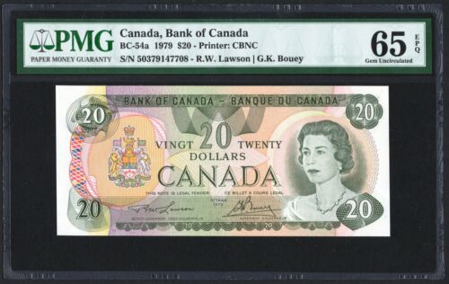 1979 Bank of Canada $20 Banknote, PMG UNC-65 EPQ