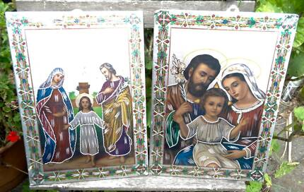 Religious Icon Images etched onto metal