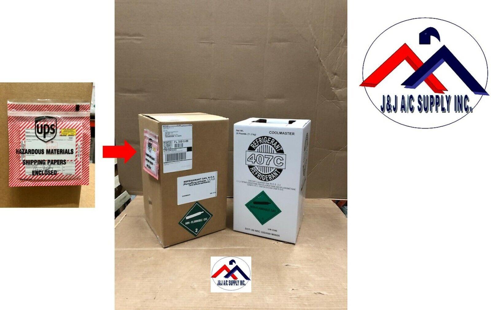 R407CRefrigerant 25 lb Cylinder LOWEST PRICE ON EBAY  FACTORY SEALED USA