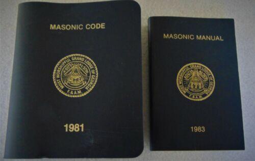 MASONIC GRAND LODGE OF GEORGIA MASONIC CODE & MASONIC MANUAL,1981,1983