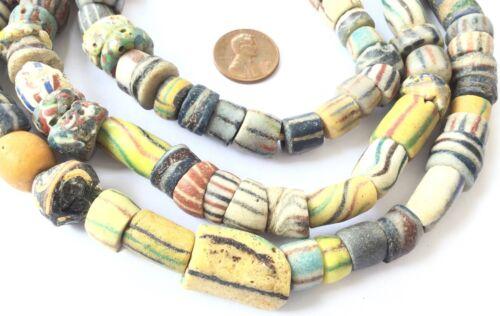 Fine Authentic Antique Ghana Old Krobo Powderglass African Trade Beads