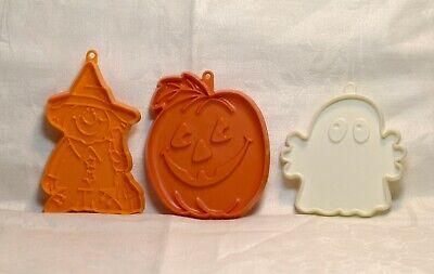 Hallmark Vintage Cookie Cutter Silly Halloween - Pumpkin Witch / Scarecrow Ghost