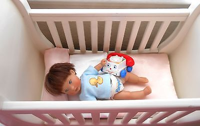 """Fisher Price telephone for Ellery Riley Kish 5-8"""" baby doll OOAK polymer clay"""