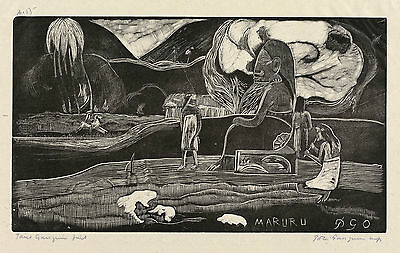 Gauguin Woodcuts: Maruru (Thank You) - Fine Art Print