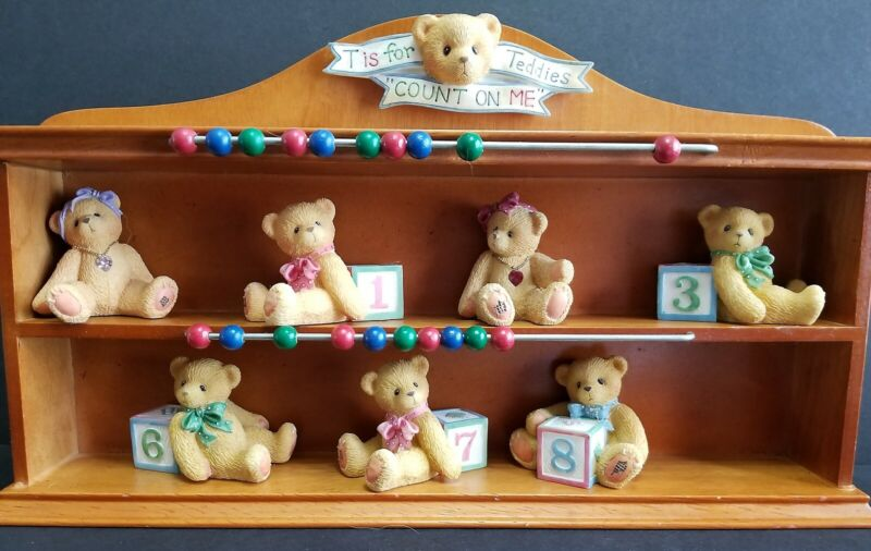 Cherished Teddies T is for Count On Me Display Case Years 1, 3, 6, 7, 8 June Jan