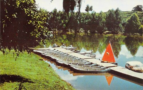 LA Washington CAMP THISTLETHWAITE Canoeing Boy Scouts of America postcard BS3