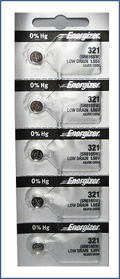 321 Battery Replacement Watch Battery Equivalent Energizer x 5