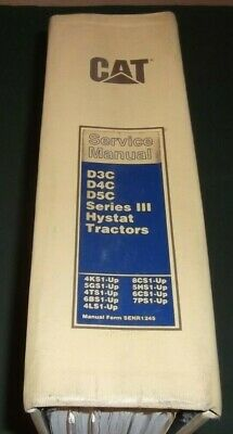 Cat Caterpillar D3c D4c D5c Series Iii Hystat Dozer Service Shop Repair Manual