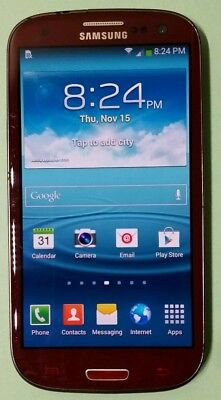 Samsung Galaxy S3 SGH-I747 16GB RED AT&T UNLOCKED GSM TMOBILE METRO PCS SIMPLE