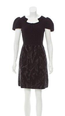 CHANEL Fabulous Black Knit Cap Sleeve Dress!