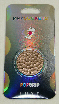 PopSockets Phone Grip HAMMERED METAL ROSE GOLD LUXE PopSocket With Swappable Top