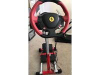 Xbox one ferrari 458 steering wheel (includes pedals) with stand