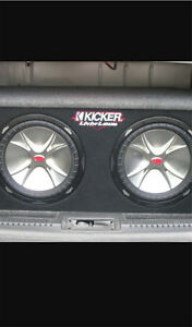 "^** KICKER COMPETITION CVR 12"" SUBWOOFERS IN MATCHING BOX & AMP!"