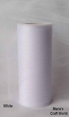 6 White Glimmer Shimmer Tulle Spools Bulk Lot 6