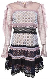 8325cea55d37 Self-Portrait Bellis Lace Trim Dress - Size 8 | Dresses & Skirts ...
