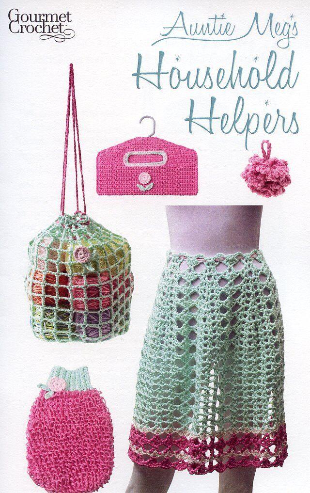 Auntie Megs Household Helpers Apron Bag Scrubbie Gourmet Crochet