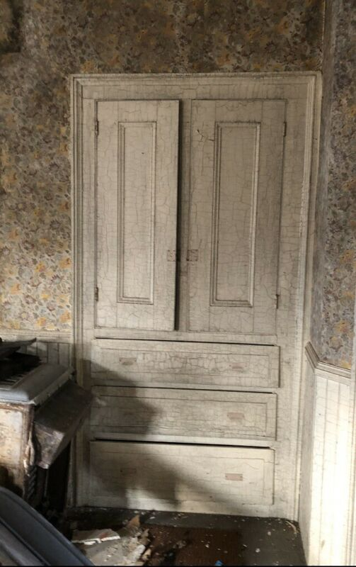 Early Victorian Built In Cabinet