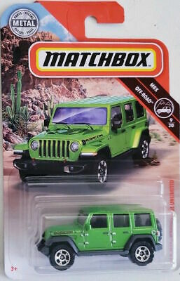 Neu !!! Matchbox Hot Wheels 2018 '18 Jeep Wrangler JL Unlimited !!