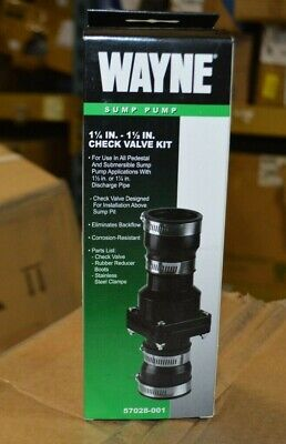 Wayne Sump Pump 1 14 In. - 1 12 In. Check Valve Kit Model 57028-001