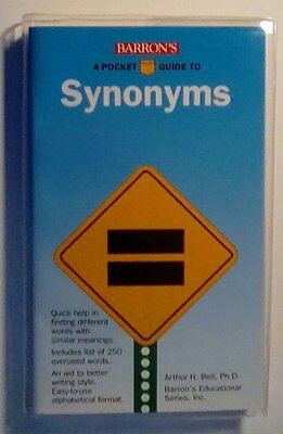 Barrons A Pocket Guide To Synonyms  Bell
