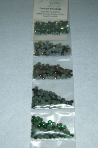 Glamour Glitz - Iron On Crystals - Hot Fix -  520 Pieces - Five Colors  - New