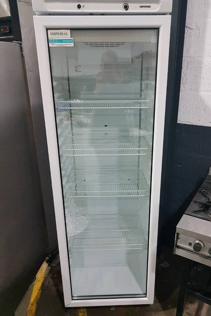 Single Glass Door Upright Drink Display Cooler Refrigerator Bottle