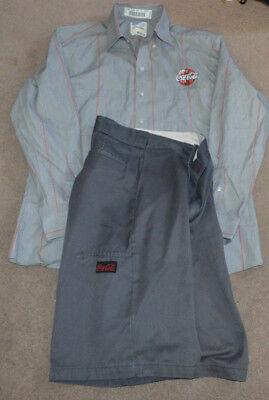 Coca Cola Employee Uniform L/S Shirt and Shorts Coke Costume (Coke Costume)