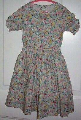 Bonpoint Floral Soft Cotton Multi-color Summer Dress Girls Size 6, NWOT