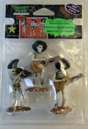 LEMAX Spooky Town Fiesta De Los Muertos Mariachi Band Set of 3 Figurines