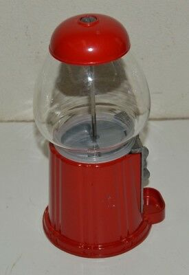 Nice Red Metal & Glass Small JELLY BELLY Jelly Bean Candy Dispenser Machine 9